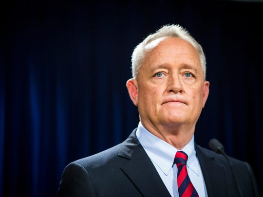 Hamilton County Prosecutor Joe Deters discusses the Walnut Hills officer-involved shooting at a press conference at the Hamilton County Prosecutor's Office Tuesday, March 21, 2017.