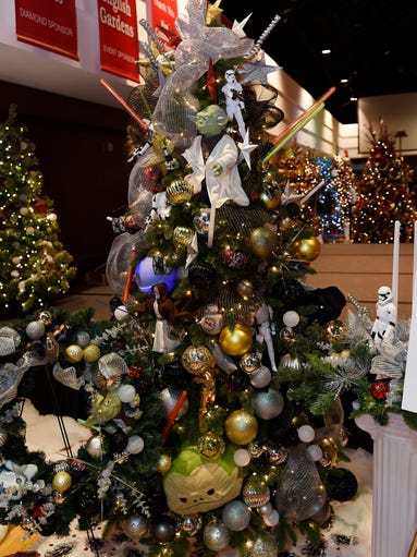 "A ""Star Wars"" themed trees was one of more 50 trees"