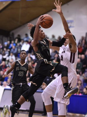 Chauncey Hawkins (4) and St. Joseph are defending champions entering the 61st Bergen County Jamboree boys basketball tournament.