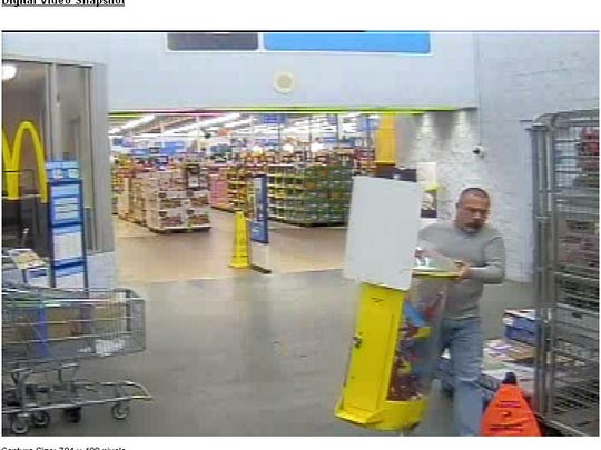 Cedar City Police are asking for help to locate this suspect who allegedly stole $100 in donations meant for the Utah Primary Children's Hospital.