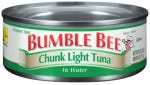 Following a recall by Bumble Bee Seafoods, Giant Food Stores, LLC and Martin's Food Markets announced it removed from sale certain canned Chunk Light tuna products due to problems with the sterilization process.