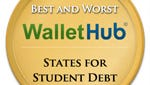WalletHub ranked the best and worst states for student loan debt. Mississippi placed 44th.