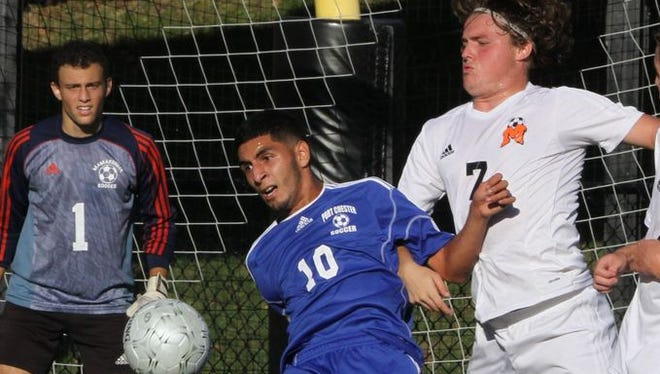 Port Chester defeated Mamaroneck 2-0 in a varsity soccer match at Mamaroneck High School Sept. 18, 2015.