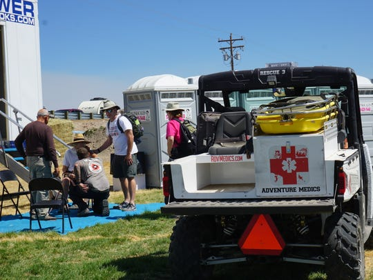 Adventure Medics assist an 82-year-old man Friday afternoon