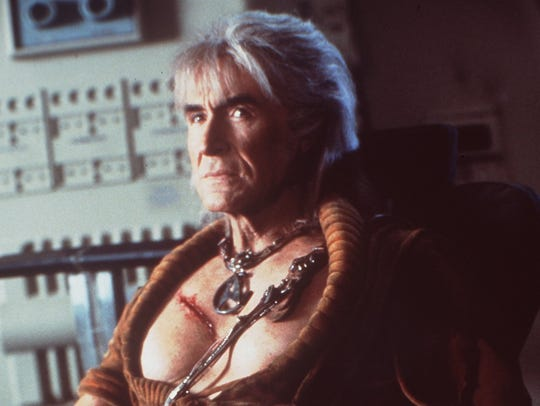 Actor Ricardo Montalban is shown in a scene from the
