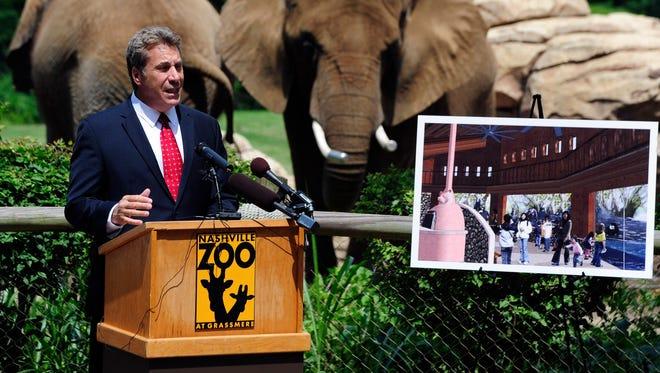 Nashville Zoo president Rick Schwartz  announces plans for a major expansion.