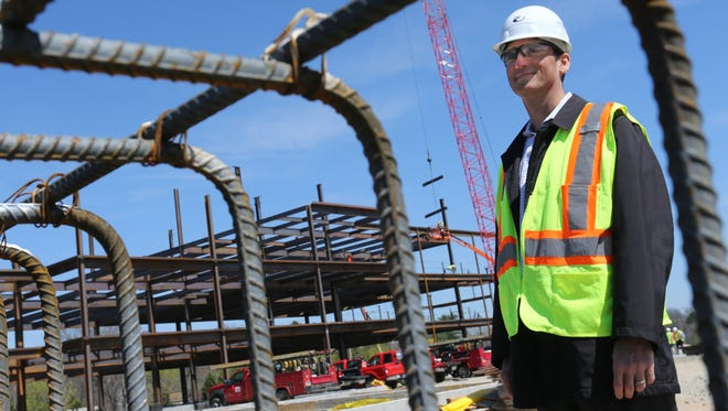 Corporation Services Co. CEO Rodman Ward III is seen at the site of the company's future Greenville headquarters on Wednesday.