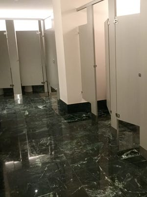 Artis-Naples hopes to solve its bathroom line problems with double-sized restrooms such as this west-side women's room in the main hall.