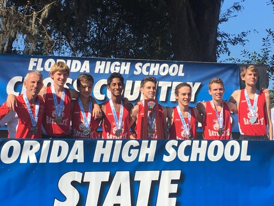 Satellite's boys cross country team placed second in