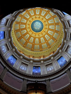 The intricate interior of the Capitol dome is seen in this 2012 State Journal file photo.
