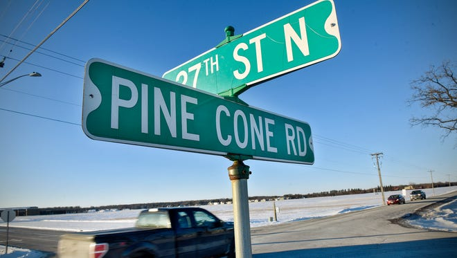 Traffic moves along Pinecone Road Jan. 7, at the 27th Street intersection near Oak Ridge Elementary School in Sartell.