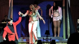 During this performance, magician David Hira brought a Pointer sister on stage.