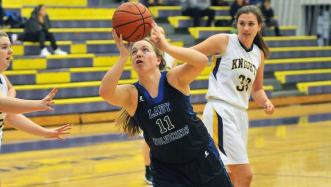 Gardner-Webb softball recruit Autumn Owen is the leading scorer for the Polk County girls basketball team.