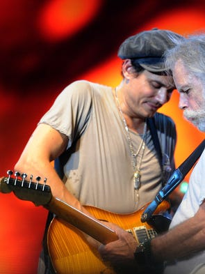 John Mayer and Bob Weir of Dead & Company at the Bonnaroo