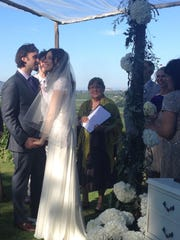 The couple were married at a private, countryside residence.