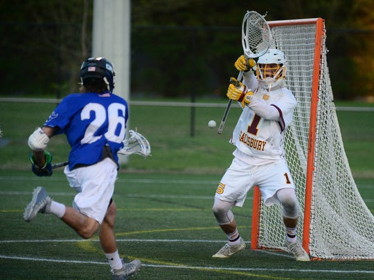 Salisbury University's Brandon Warren (1) with a save