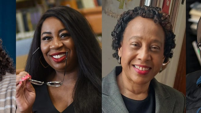 """Massasoit Community College launched a free two-week online class, """"Racism and Resistance,"""" on Monday, July 13, 2020, with plans to offer similar courses in the future. The course is taught by four faculty members, from left: Lisa Coole, Dr. Rachel Jessica Daniel, Dr. Kerima Lewis and Dr. Glen Prospere."""