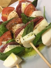 Soppressata Caprese Skewers