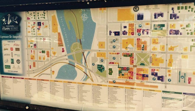 The map kiosks in downtown Wausau have been updated just in time for summer shopping season.