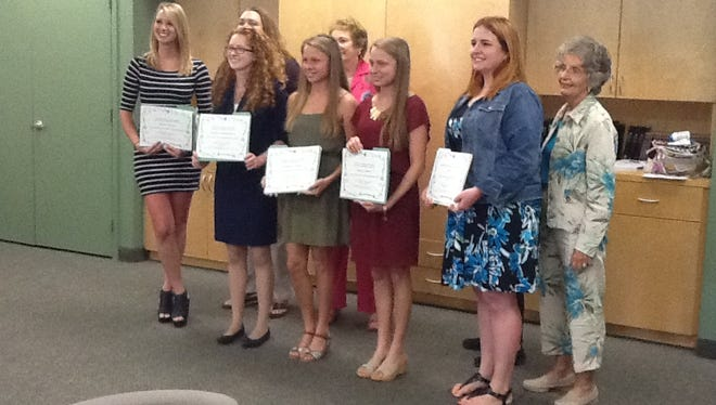 The 2016 winners and Pilot Scholarship Committee members