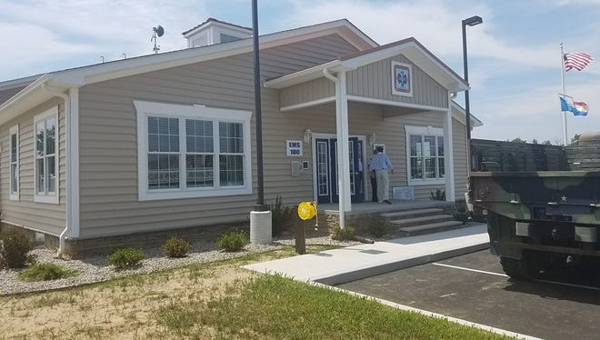 The exterior of the new Medic 104/EMS Supervisor 100 station near Lewes.