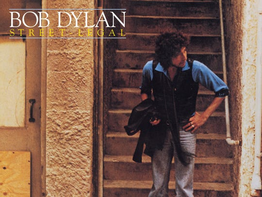 "The cover to Bob Dylan's 1978 album, ""Street-Legal."""