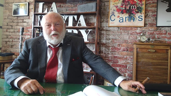 Andy Vajna, Hungary's film commissioner, sits behind his desk in Budapest, Hungary, June 6, 2016.