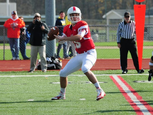Quarterback Braden Black and the Olivet College football team visit Carthage (Wis.) on Saturday.