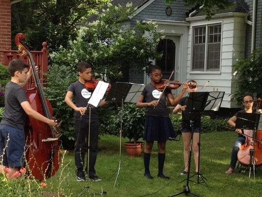 The Treblemakers are students from Norup International School who play string instruments.