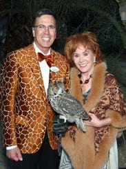 CEO Allen Monroe and Karen Miles with Great-horned