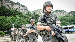 A handout photo made available by the South Korean