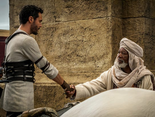 Jack Huston stars as Judah Ben-Hur and Morgan Freeman