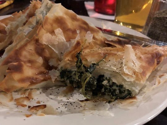Little Sam's Spanakopita is baked phyllo dough filled with a blend of Greek cheeses and herb-seasoned spinach.