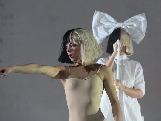 Sia performs on the Coachella Stage during the first