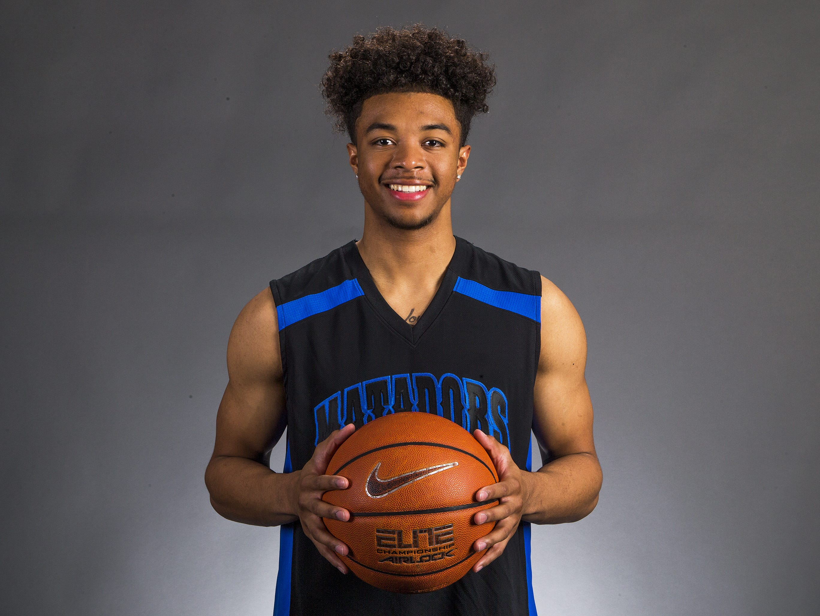 Phoenix Shadow Mountain senior guard Marcus Shaver is a finalist for the azcentral.com Sports Awards Big Schools Boys Basketball Athlete of the Year award.