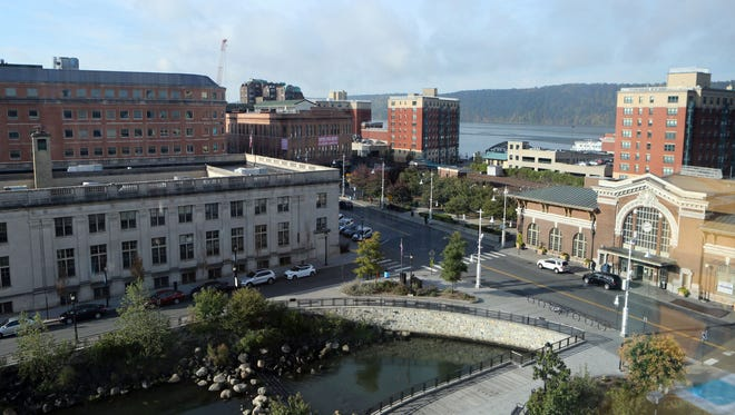 A view looking west toward the Hudson River at Van der Donck Park in Yonkers, in this photo shot Oct. 13, 2016.