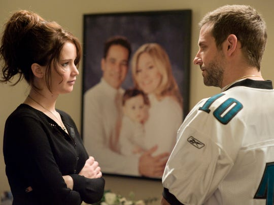 """Jennifer Lawrence and Bradley Cooper in a """"Silver Linings Playbook."""""""