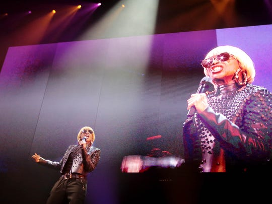 R&B singer Mary J. Blige performs at FedExForum in Memphis in November 2016.