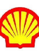 Detail of the Shell logo.