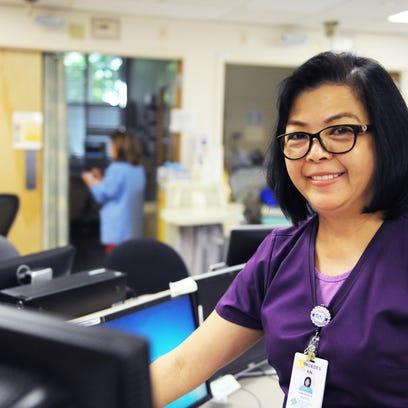Nurse of the Year Mercedes Labindalaua at SVMH on Wednesday