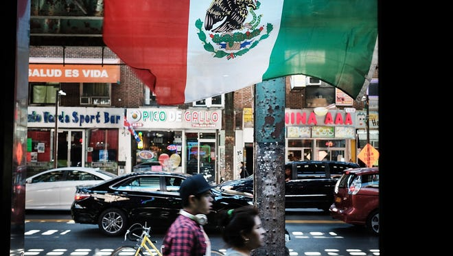 A Mexican flag flies in Queens, on Aug. 29, 2016.