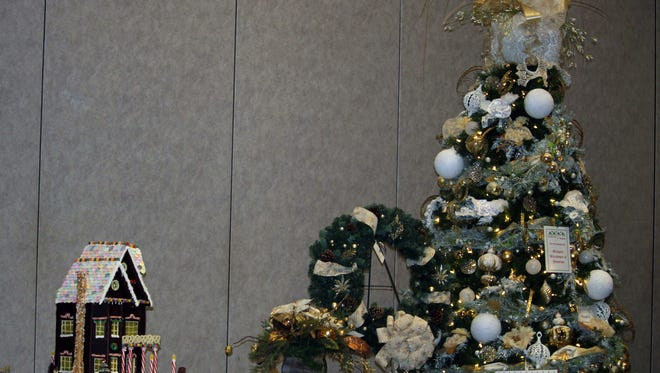 Holiday items abound at the annual Festival of Trees, a benefit at the Civic Center of Anderson for the Foothills Alliance.