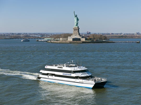 The Hudson River Fall Foliage Day Cruise is on a catamaran