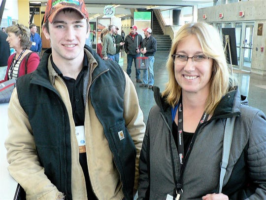 Susan Barsness of Barsness Dairy in Starbuck, MN, and her son Caleb Blaisdell, a student at South Dakota State University, came a long way to attend the PDPW conference.