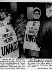Green Bay Press-Gazette reporters Carolyn Stewart,