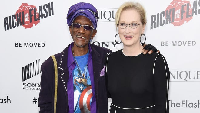 "Bernie Worrell, a Plainfield native, and Meryl Streep, who grew up in Bernardsville, attend the New York premiere of ""Ricki And The Flash"" at AMC Lincoln Square Theater on Monday."
