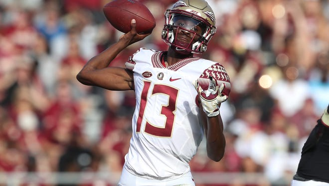 FSU's James Blackman throws the ball during the Garnet and Gold Spring game at Doak Campbell Stadium on Saturday, April 14, 2018.