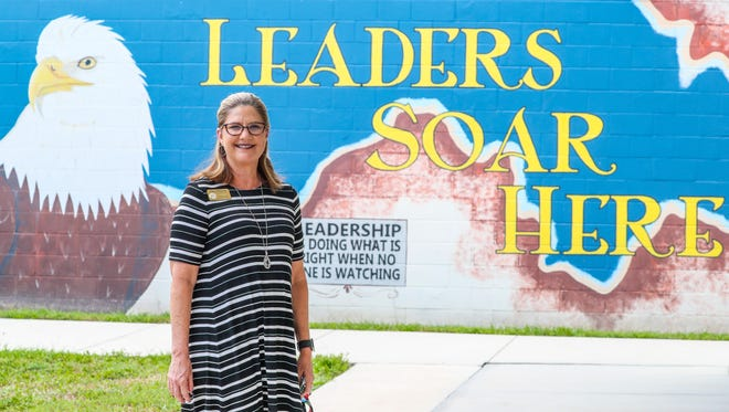 Lisa Murphy is the new principal of Trafalgar Elementary in Cape Coral. She was busy meeting really quick with teachers and saying goodbye to the students at the end of the school day Tuesday.