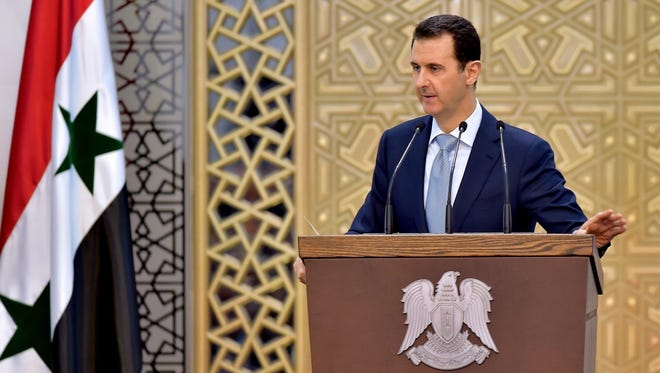 Syrian President Bashar Assad speaks in Damascus on July 26, 2015.