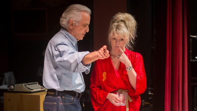 "Playwright and director Mark Medoff  works with Erin Sullivan, who portrays Marilyn Monroe in Medoff's new play ""Marilee and Baby Lamb: The Assassination of an American Goddess,"" premiering this week at the Rio Grande Theatre."